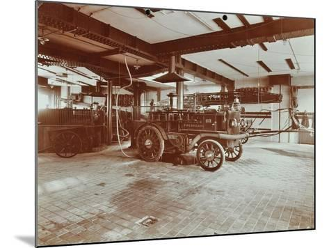 Fire Engine at Cannon Street Fire Station, Cannon Street, City of London, 1907--Mounted Photographic Print