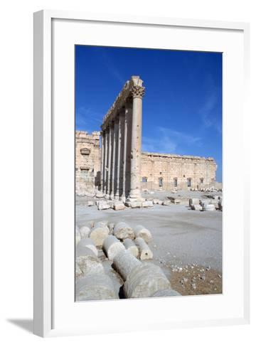 Courtyard of the Temple of Bel, Palmyra, Syria-Vivienne Sharp-Framed Art Print