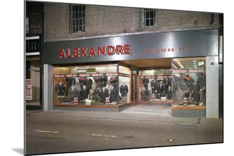 Alexandre of Oxford Street, Mens Clothes Shop Frontage, Mexborough, South Yorkshire, 1963-Michael Walters-Mounted Photographic Print