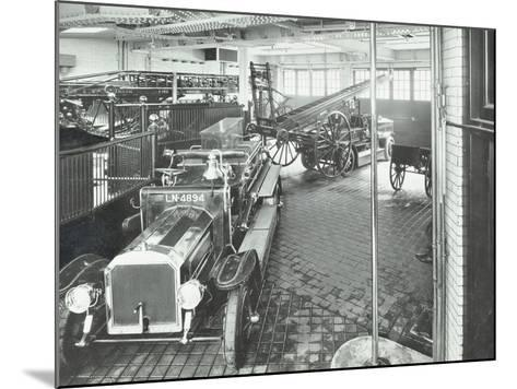 Fire Engines and Equipment at Cannon Street Fire Station, City of London, 1913--Mounted Photographic Print