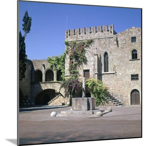 Fountain in the Old Town and Palace of Armeria, 14th Century-Roger de Pins-Mounted Photographic Print