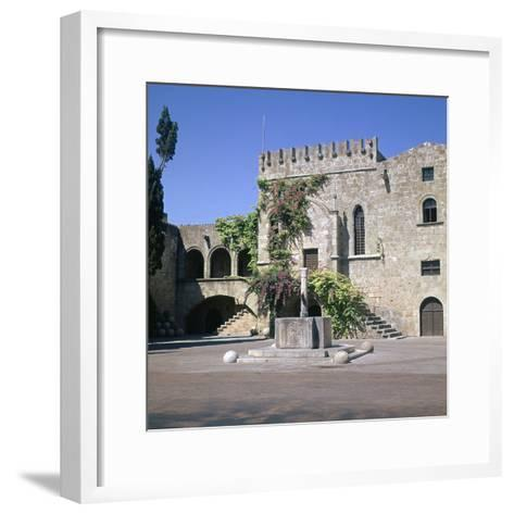 Fountain in the Old Town and Palace of Armeria, 14th Century-Roger de Pins-Framed Art Print