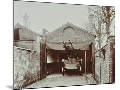 Fire Engine at Streatham Fire Station, London, 1903--Mounted Photographic Print