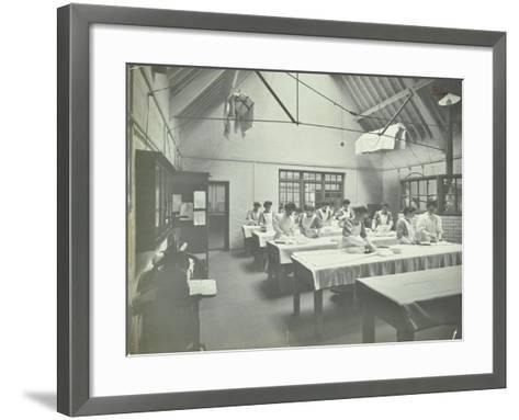The Ironing Room, Battersea Polytechnic, London, 1907--Framed Art Print
