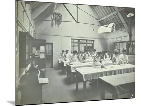 The Ironing Room, Battersea Polytechnic, London, 1907--Mounted Photographic Print