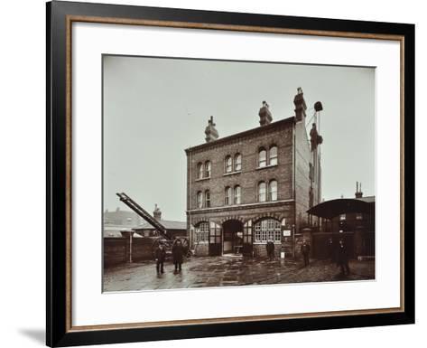 Poplar Fire Station, No 75 West India Dock Road, Poplar, London, 1905--Framed Art Print