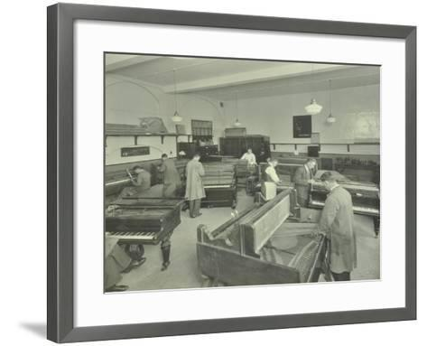 Piano Repairing Class, Northern Polytechnic, London, 1930--Framed Art Print