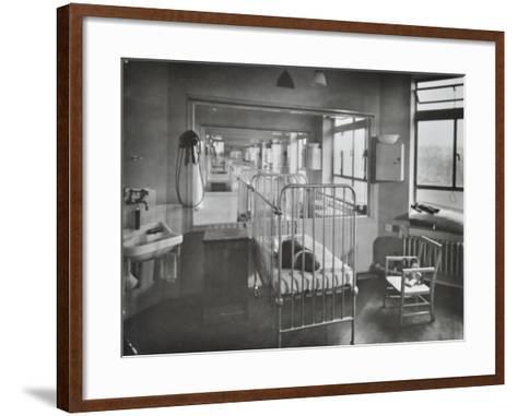 Childrens Isolation Wards, Brook General Hospital, London, 1948--Framed Art Print