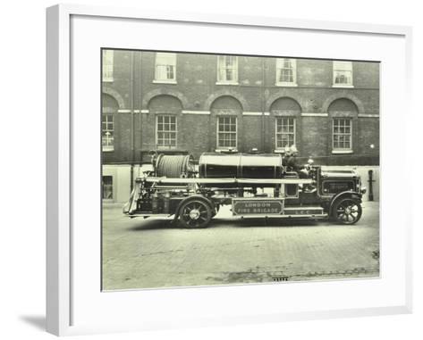 Firemen Aboard a Foam Tender, London Fire Brigade Headquarters, London, 1929--Framed Art Print