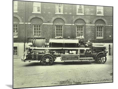 Firemen Aboard a Foam Tender, London Fire Brigade Headquarters, London, 1929--Mounted Photographic Print