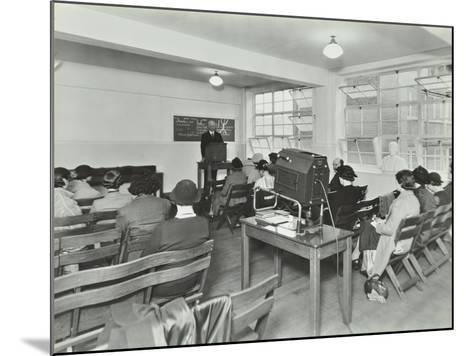 Lecture in Progress, City Literary Institute, London, 1939--Mounted Photographic Print