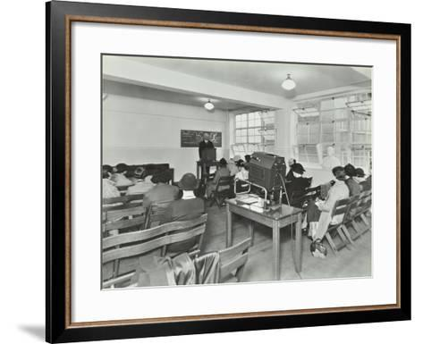 Lecture in Progress, City Literary Institute, London, 1939--Framed Art Print