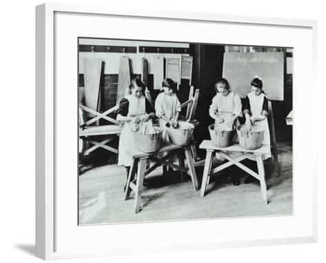 Laundry Work, Tennyson Street School, Battersea, London, 1907--Framed Art Print