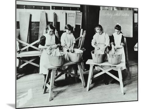 Laundry Work, Tennyson Street School, Battersea, London, 1907--Mounted Photographic Print
