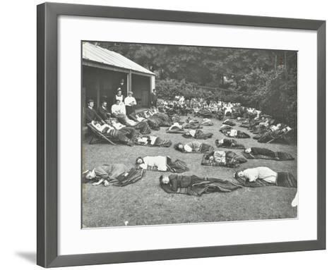 Children Resting in the Garden, Birley House Open Air School, Forest Hill, London, 1908--Framed Art Print