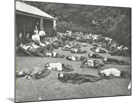 Children Resting in the Garden, Birley House Open Air School, Forest Hill, London, 1908--Mounted Photographic Print