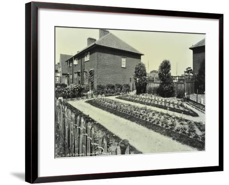 Garden at 187 Valence Wood Road, Becontree Estate, Ilford, London, 1929--Framed Art Print