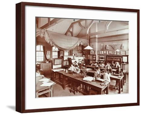 A Class at the Camberwell School of Arts and Crafts, Southwark, London, 1907--Framed Art Print