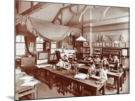 A Class at the Camberwell School of Arts and Crafts, Southwark, London, 1907--Mounted Photographic Print