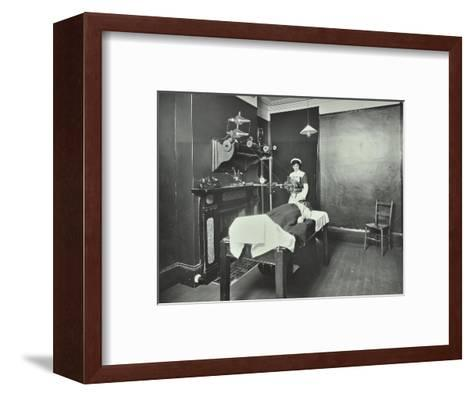 X-Ray Room, Fulham School Treatment Centre, London, 1914--Framed Art Print