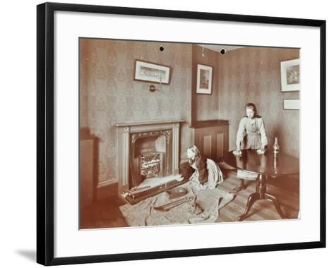 Housewifery Lesson, Morden Terrace School, Greenwich, London, 1908--Framed Art Print