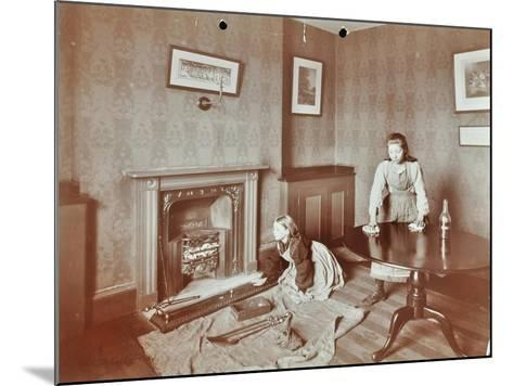 Housewifery Lesson, Morden Terrace School, Greenwich, London, 1908--Mounted Photographic Print