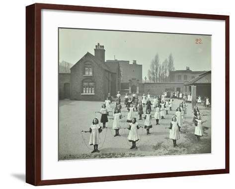 Girls Skipping, Rushmore Road Girls School, Hackney, 1908--Framed Art Print
