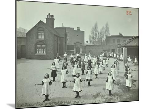 Girls Skipping, Rushmore Road Girls School, Hackney, 1908--Mounted Photographic Print
