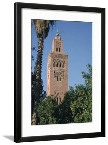 Minaret of the Koutoubia Mosque, Marakesh, Morocco-Vivienne Sharp-Framed Art Print