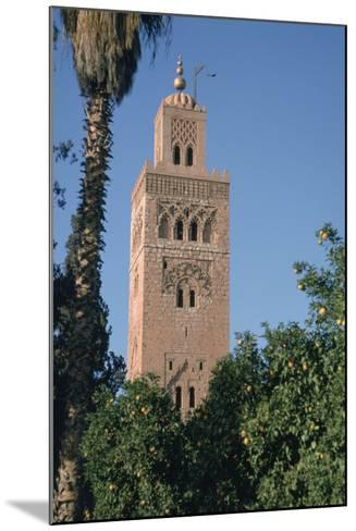 Minaret of the Koutoubia Mosque, Marakesh, Morocco-Vivienne Sharp-Mounted Photographic Print