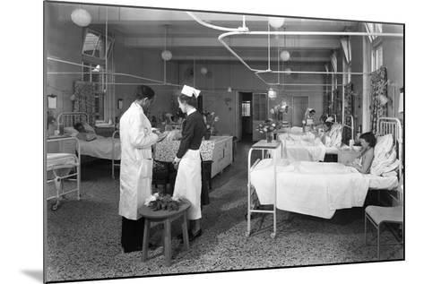 The Female Medical Ward at the Montague Hospital, Mexborough, South Yorkshire, 1959-Michael Walters-Mounted Photographic Print