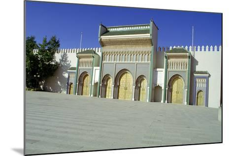 Gates of the Royal Palace, Fez, Morocco-Vivienne Sharp-Mounted Photographic Print