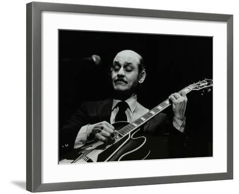 Guitarist Joe Pass on Stage at the Forum Theatre, Hatfield, Hertfordshire, 12 November 1980-Denis Williams-Framed Art Print