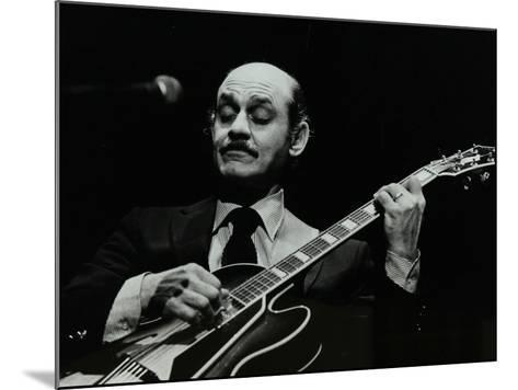 Guitarist Joe Pass on Stage at the Forum Theatre, Hatfield, Hertfordshire, 12 November 1980-Denis Williams-Mounted Photographic Print