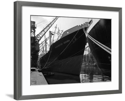 The Manchester Renown in Dock on the Manchester Ship Canal, 1964-Michael Walters-Framed Art Print