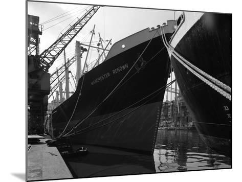 The Manchester Renown in Dock on the Manchester Ship Canal, 1964-Michael Walters-Mounted Photographic Print