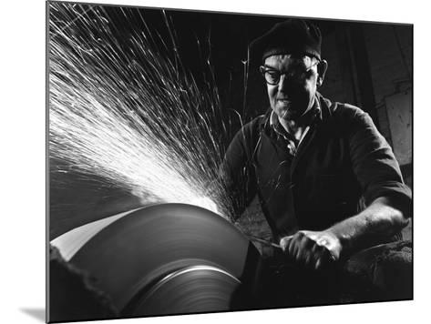 Grinding (Sharpening), Everlast Garden Tools, Sheffield, South Yorkshire, 1965-Michael Walters-Mounted Photographic Print