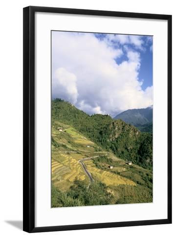 Road from Puntsholing to Paro, Bhutan-Vivienne Sharp-Framed Art Print