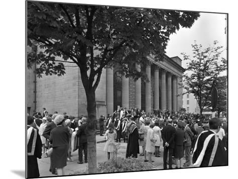 University Graduates Outside Sheffield City Hall, South Yorkshire, 1967-Michael Walters-Mounted Photographic Print