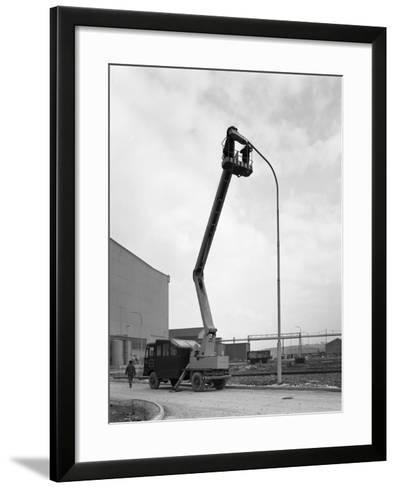 Simon Cherry Picker, Park Gate Iron and Steel Co, Rotherham, South Yorkshire, 1964-Michael Walters-Framed Art Print