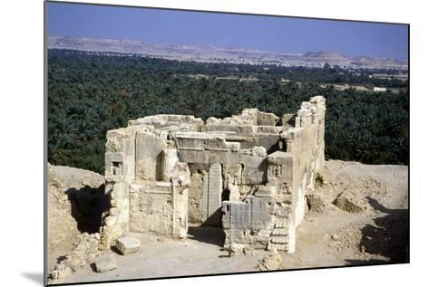 Temple of the Oracle, Siwah, Egypt-Vivienne Sharp-Mounted Photographic Print