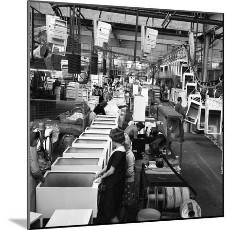 Refrigerators Being Assembled at the Gec in Swinton, South Yorkshire, 1963-Michael Walters-Mounted Photographic Print