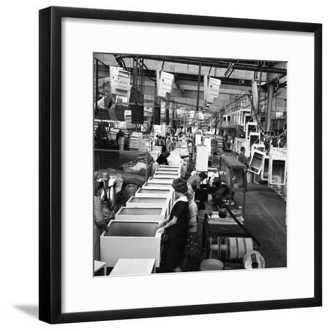 Refrigerators Being Assembled at the Gec in Swinton, South Yorkshire, 1963-Michael Walters-Framed Art Print