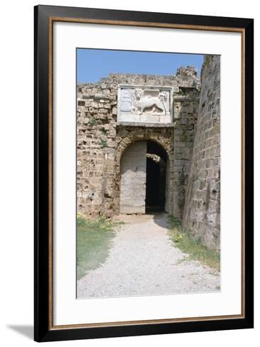 Stone Lion, Othellos Tower, Famagusta, North Cyprus, 2001-Vivienne Sharp-Framed Art Print
