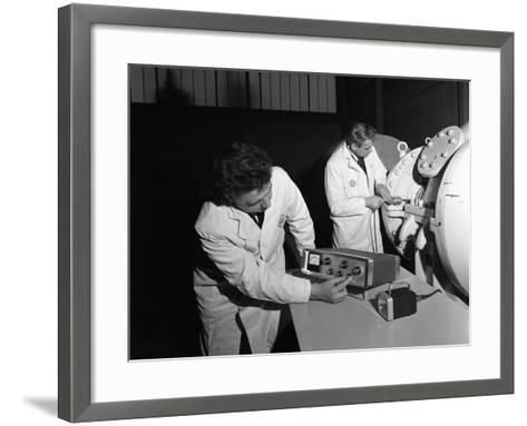 Technicians Working at the Park Gate Iron and Steel Co, Rotherham, South Yorkshire, 1966-Michael Walters-Framed Art Print