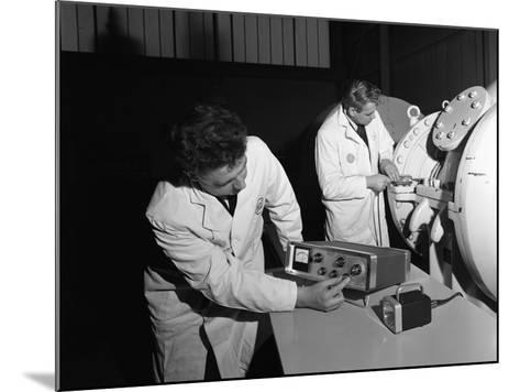 Technicians Working at the Park Gate Iron and Steel Co, Rotherham, South Yorkshire, 1966-Michael Walters-Mounted Photographic Print