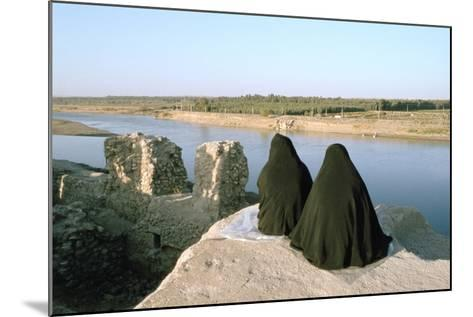 Two Iraqi Women at Bash Tapia Castle, Mosul, Iraq, 1977-Vivienne Sharp-Mounted Photographic Print