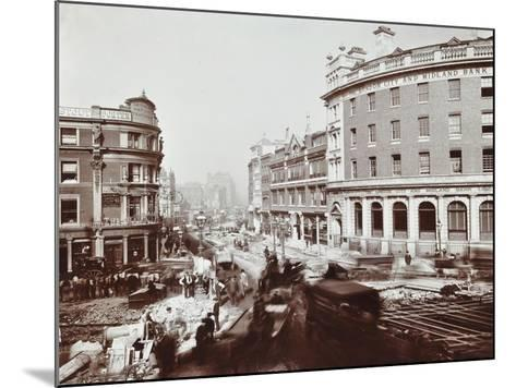 Tramway Electrification at the Junction of Goswell Road and Old Street, London, 1906--Mounted Photographic Print