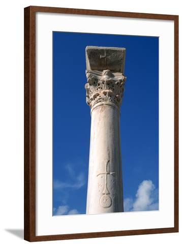 Cross Inscribed on a Column, Apollonia, Libya-Vivienne Sharp-Framed Art Print