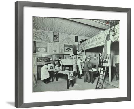 Students from Trade Classes, Northern Polytechnic, London, 1911--Framed Art Print